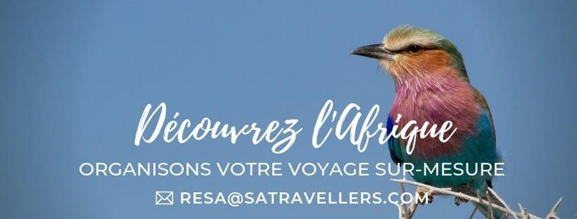 Organisez votre voyage avec South African Travellers, agence de voyage en Afrique.