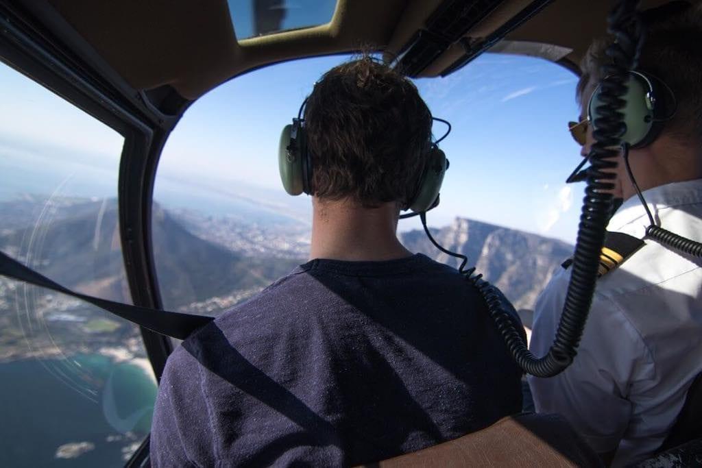 Tour d'hélicoptère au dessus du Cap