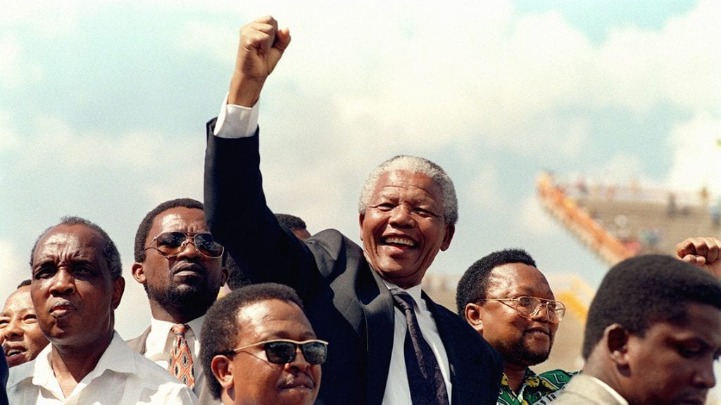 Victoire de Nelson Mandela, l'homme qui mis finà l'Apartheid