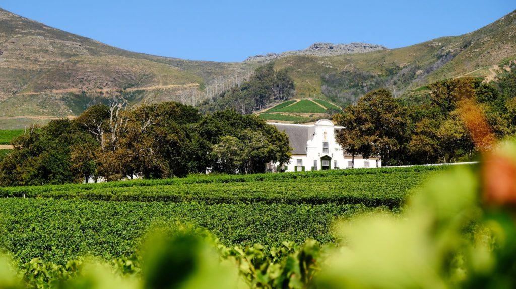 Le Manoir de Groot Constantia dans les vignobles du Cap en Afrique du Sud.