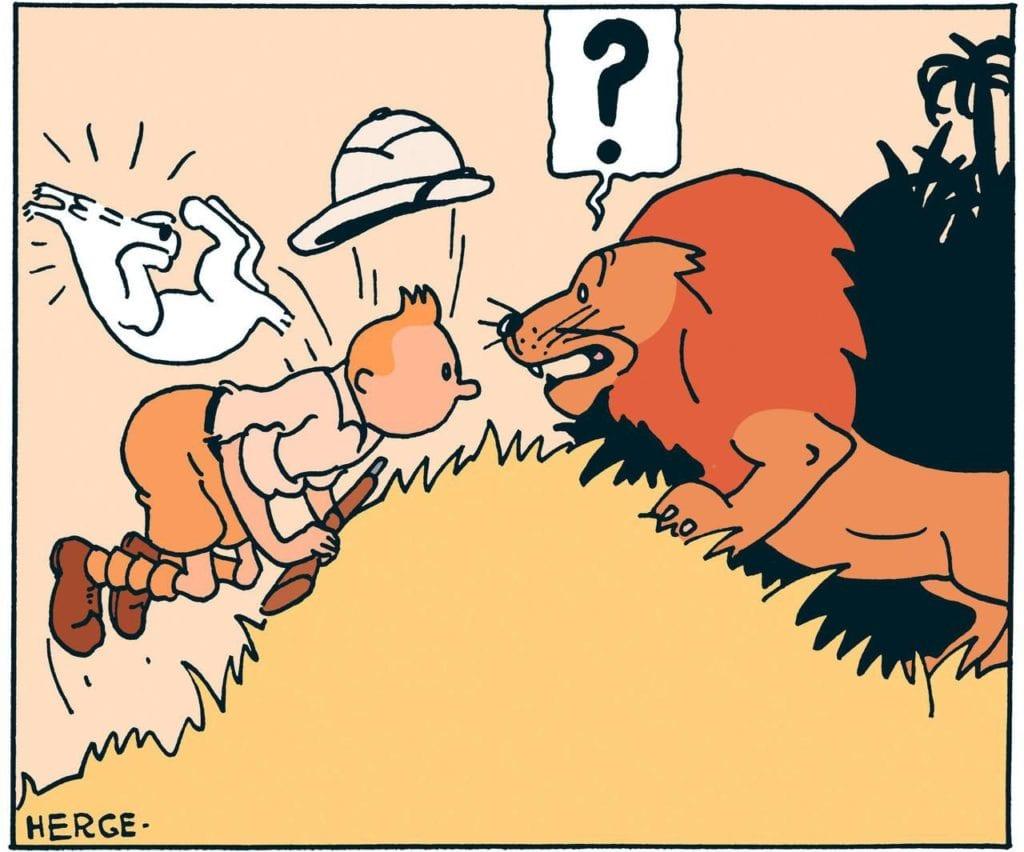 """Photo de la bande dessinée de Tintin au Congo - Article """"Que mettre dans sa valise pour partir en safari"""""""