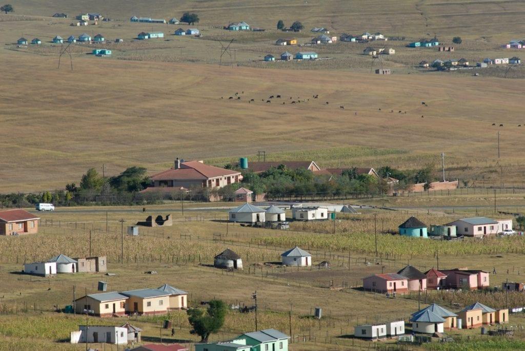 Le village de Qunu en Afrique du Sud, où a grandi Nelson Mandela