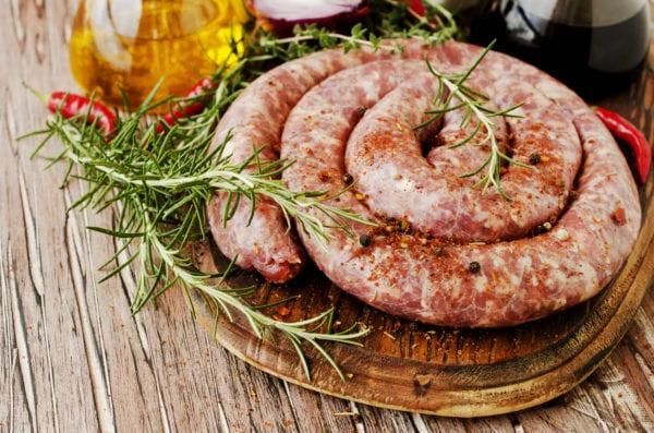 Une saucisse du Boer, une spécialité issue de la gastronomie Sud-Africaine.