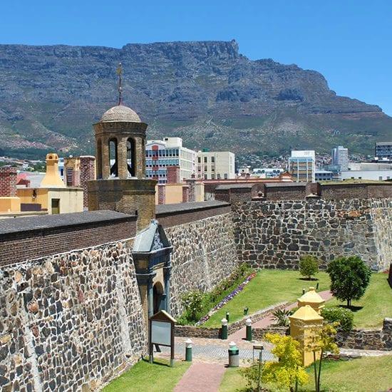 """The Castle of Good Hope, ou """"Château de Bonne Espérance"""", un musée situé à Cape Town."""