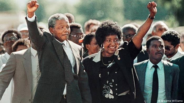 Mandela et sa femme Winnie