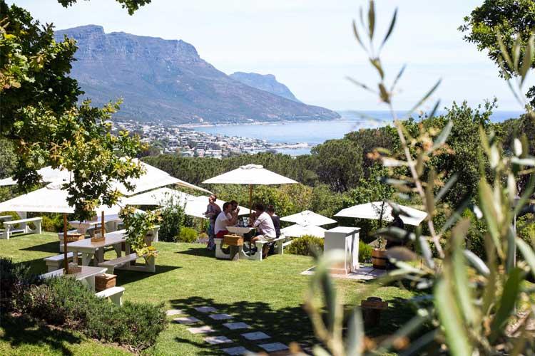 The Lawns face à la mer fait partie des meilleurs restaurants à Cape Town