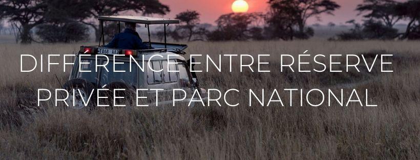 Headers des articles de blog : quelle différence entre parc national et réserve privée